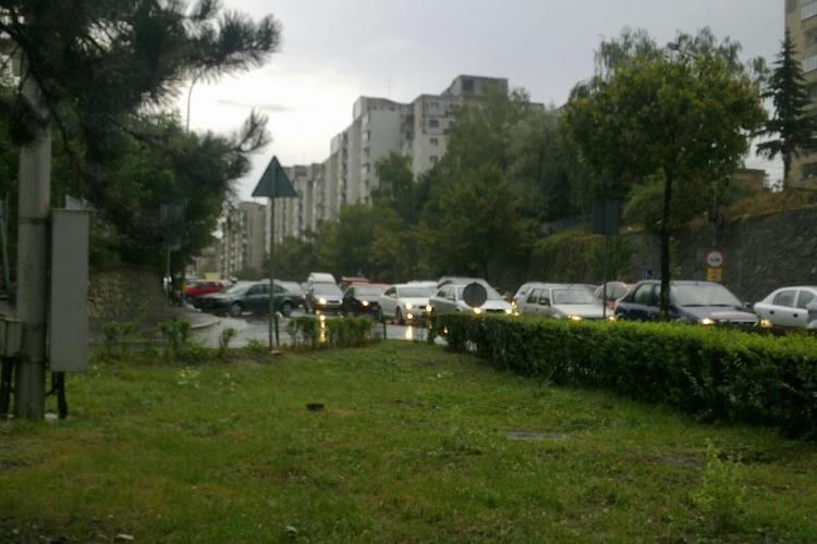 Trafic blocat din Manăștur până în Florești FOTO și VIDEO