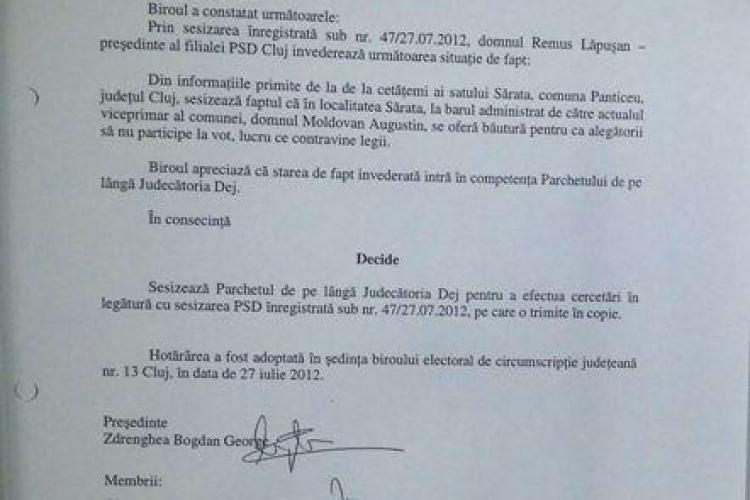 CLUJ: În Băişoara, alegătorii sunt ameninţaţi de primar să nu voteze FOTO