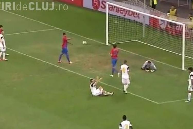 Steaua - U Cluj 5-1 REZUMAT VIDEO. Clujenii pierd al doilea meci la scor