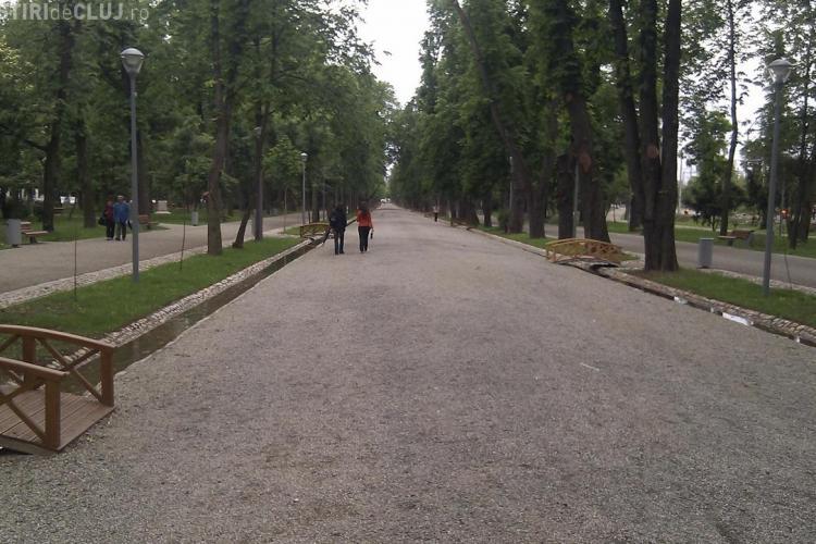 Parcul Central, erbicidat de Eco Garden ca pe terenurile agricole cu tot cu copiii care se jucau EXCLUSIV