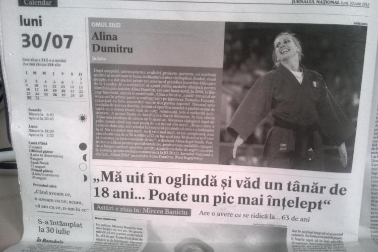 Ciutacu: Mircea Badea şi Victor Ciutacu sunt azi în televiziune ce era-n judo Alina Dumitru în 2008
