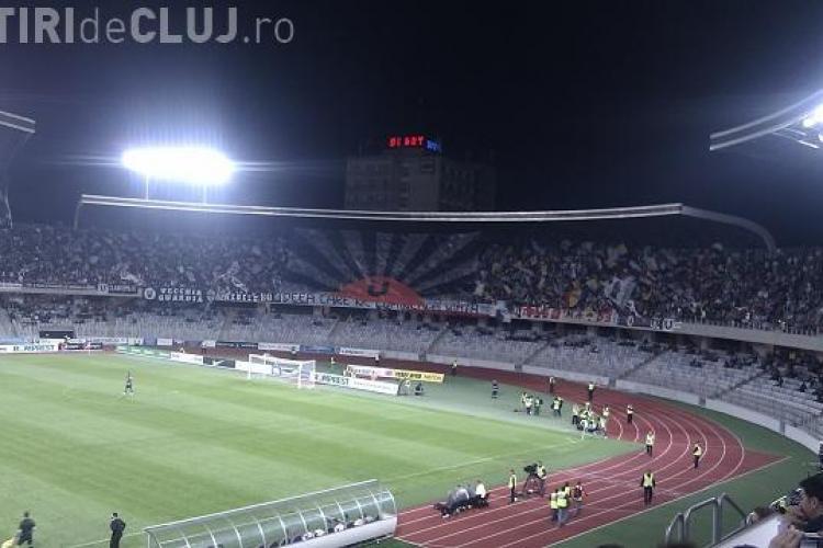 Suporterii U Cluj au părăsit terenul la meciul cu Gloria Bistrița