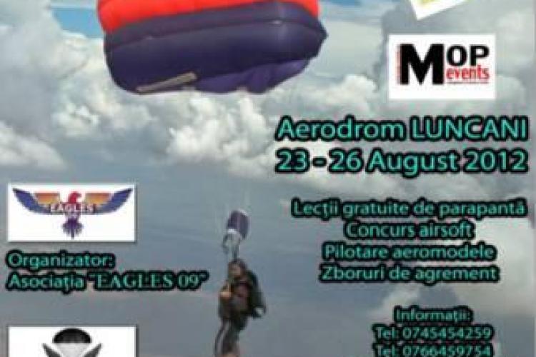 "Concurs de parașutism la Luncani. Cupa ""General Grigore Baștin"", în perioada 23 - 26 august"