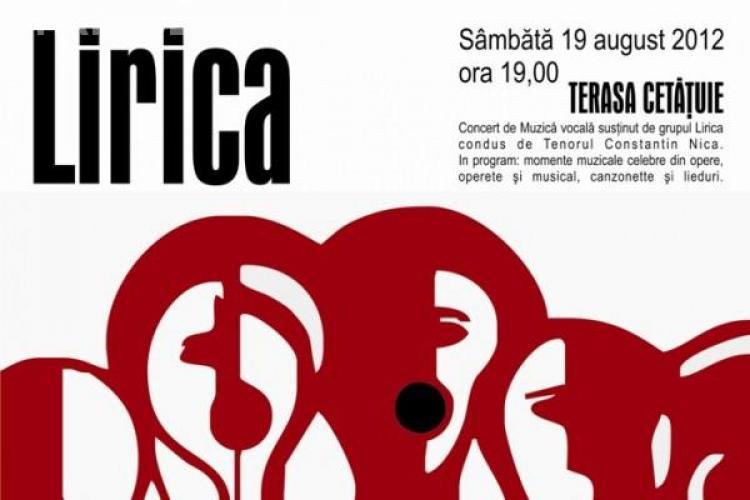 Concert al grupului Lirica în localul La Gazette, pe Dealul Cetățuia