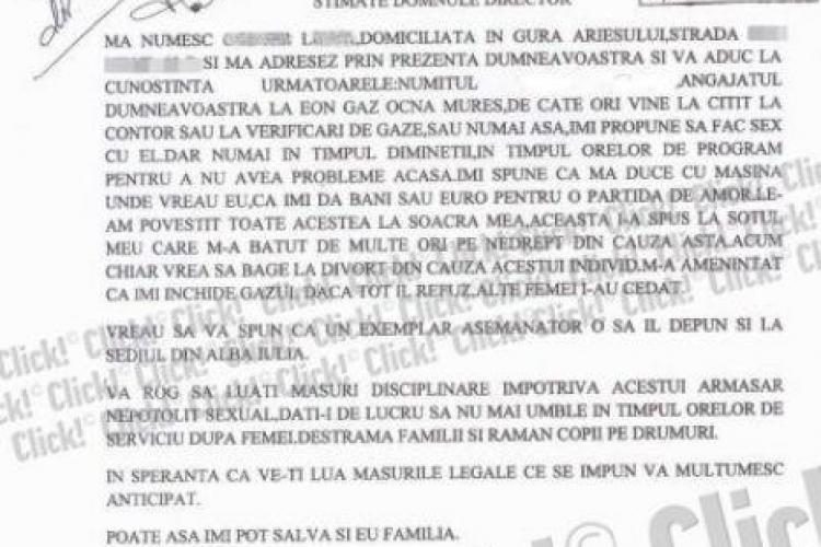 O clientă E-ON Gaz din Alba l-a reclamat pe cititorul de contor: Este un armăsar nepotolit sexual