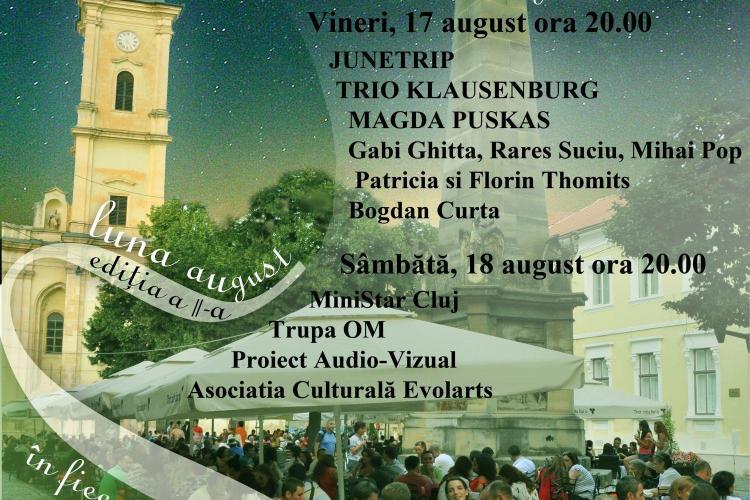 Seri de vară clujene în acest week-end, la Cluj-Napoca