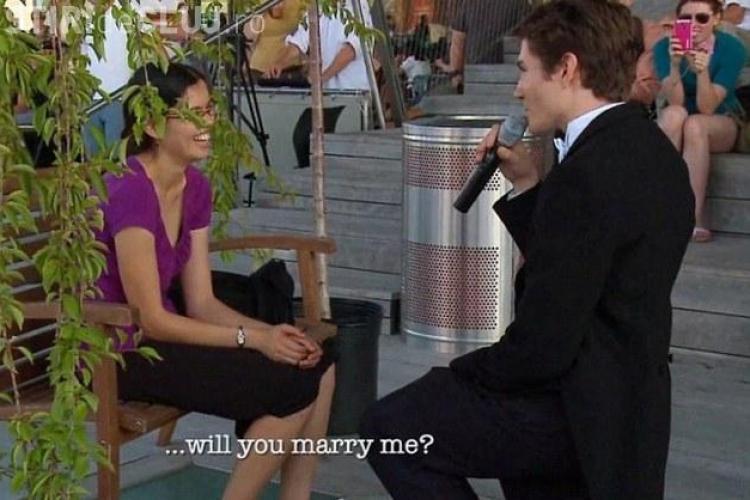 VEZI cea mai romantică cerere în căsătorie VIDEO