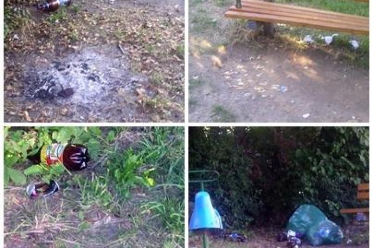 """Un teren de joacă din Mănăştur a devenit locul de întâlnire al boschetarilor. Cetăţenii se plâng: """"consumă alcool şi fac o gălăgie de nesuportat"""""""