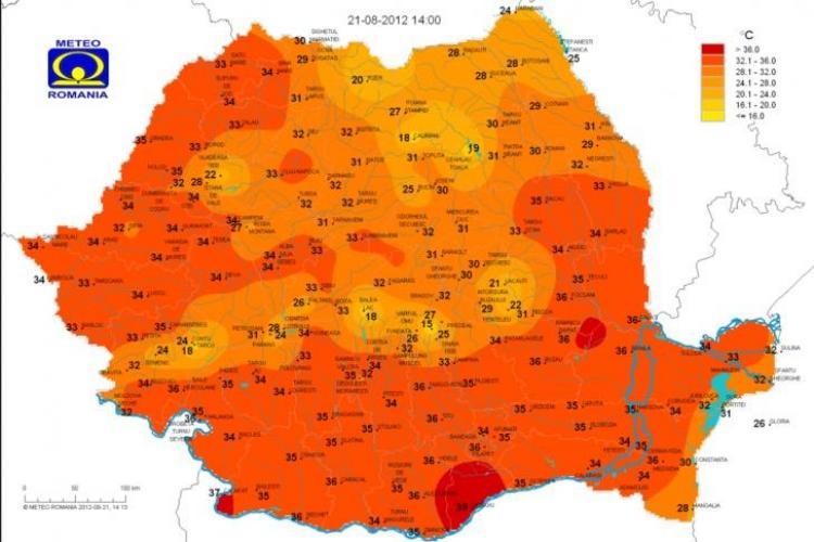 Cele mai răcoroase locuri din Cluj VEZI HARTA