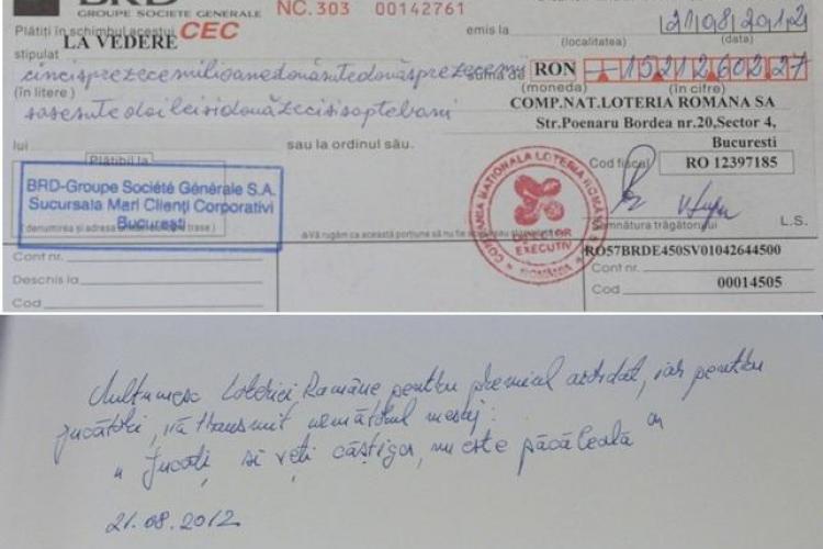 Premiul la LOTO 6/49, de 3,4 milioane de euro, a fost ridicat. VEZI ce spune câștigătorul