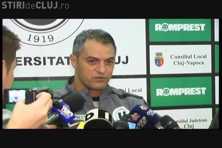 Cristi Dulca nu crede că U Cluj va merge la Bistrița VIDEO