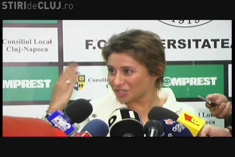 Ana Maria Prodan nu a discutat cu Pădureanu despre mutarea U Cluj la Bistrița