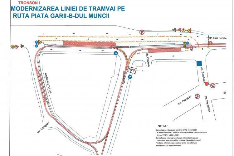 Restricții de circulație în intersecție Piața Gării - strada Horea și restrictii de circulație pe strada Oașului