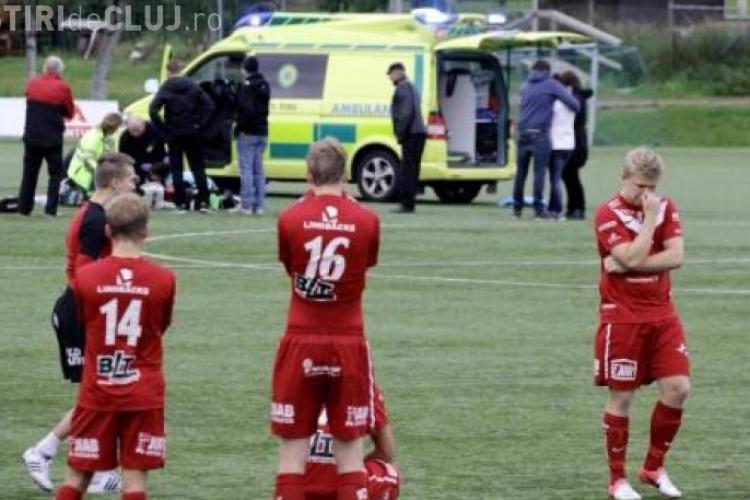 Un fotbalist a MURIT pe terenul de fotbal