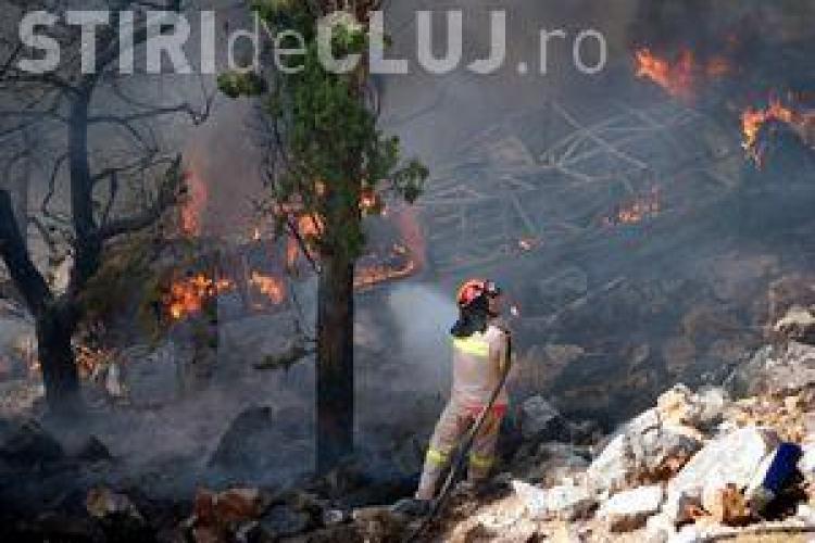 Incendiu la Mărișel, în zona Crucea Iancului