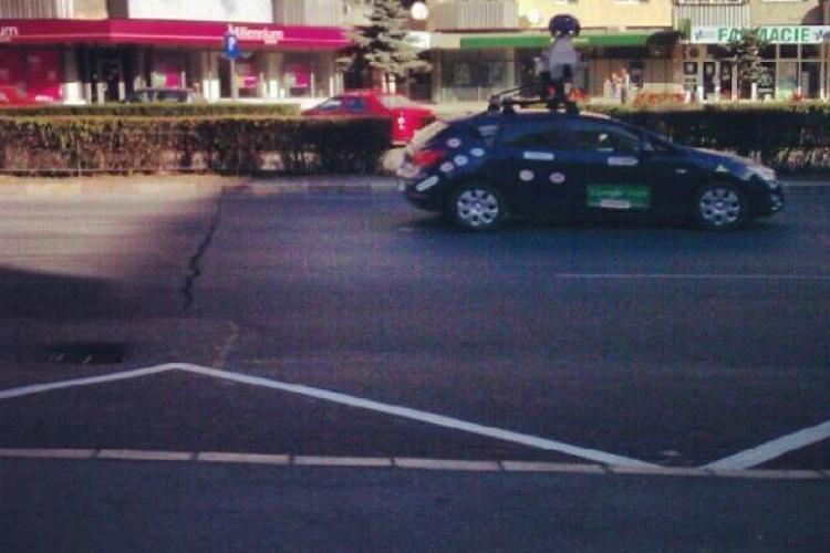 Mașina Google Street View a fost fotografiată în Mărăști