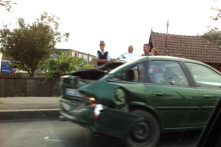 Accident pe strada Traian Vuia din Cluj-Napoca FOTO