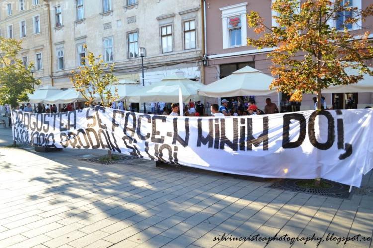 "Mesaj al suporterilor U Cluj: ""Dragostea se face-n minim doi, Anamaria Prodan și noi!"""
