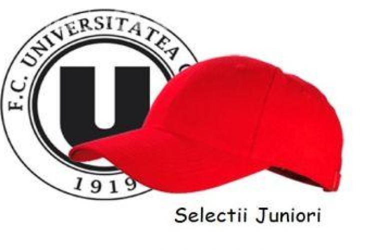 """""""U"""" Cluj selectează juniori. Vezi când şi unde!"""