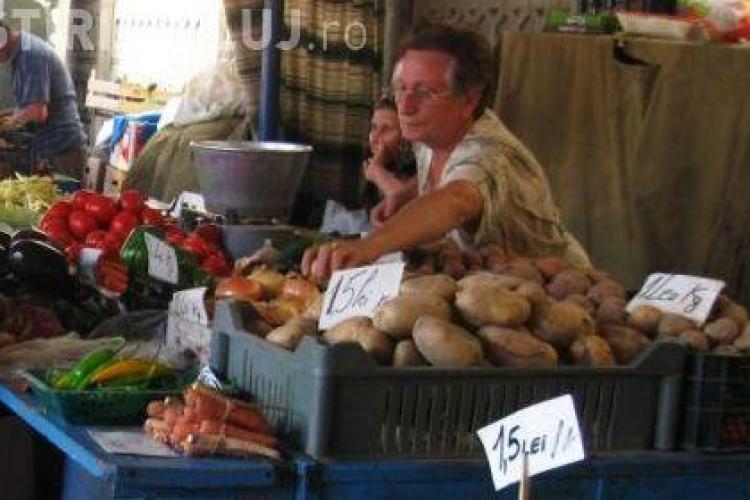 Control la comercianții din zona Pieței Mihai Viteazu
