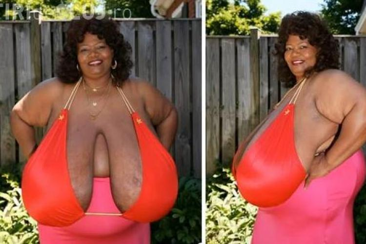 Femeia cu cei mai mari sâni naturali din lume! VIDEO
