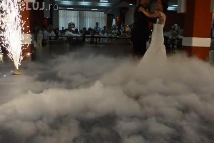 Nunți din ce în ce mai EXTRAVAGANTE la Cluj, cu gheață carbonică și artificii - VIDEO