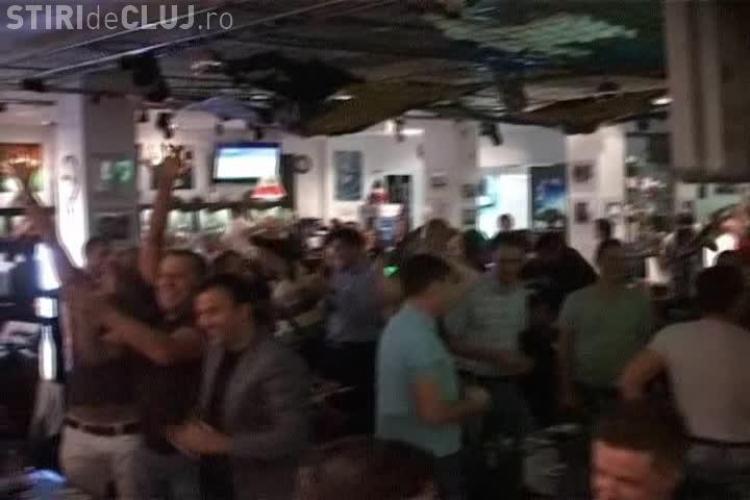 Cum s-au bucurat suporterii CFR Cluj la golurile lui Bastos VIDEO