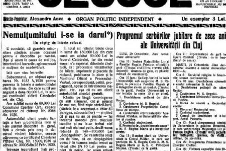 Clujulul în 1930. Vezi imagini cu vizita la Cluj a Regelui Carol al II-lea! VIDEO