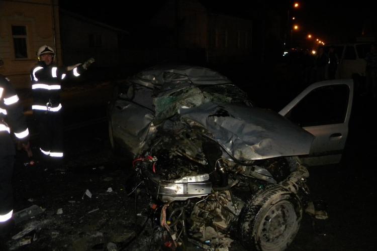 Accident la Gherla! Un autoturism a căzut în Valea Fizeșului, iar șoferul s-a înecat VIDEO