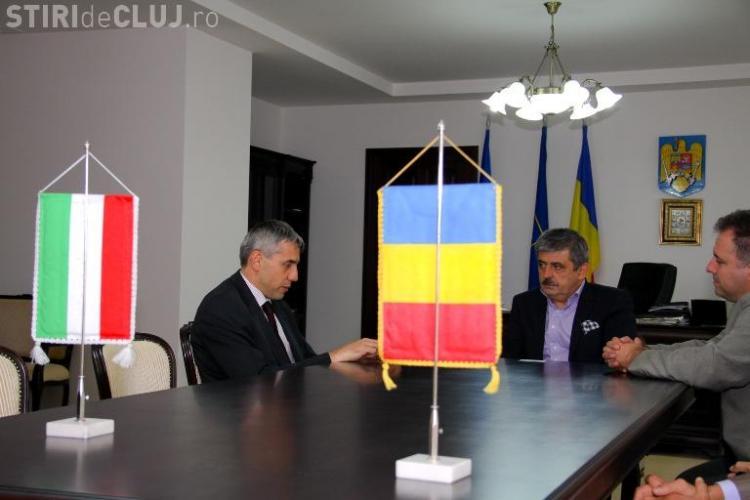 Noul consul general al Ungariei la Cluj, în vizită la Consiliul Județean Cluj - FOTO