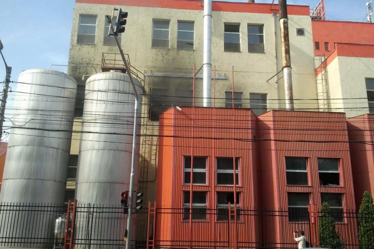 Incendiu la fosta fabrică de bere Ursus FOTO VIDEO