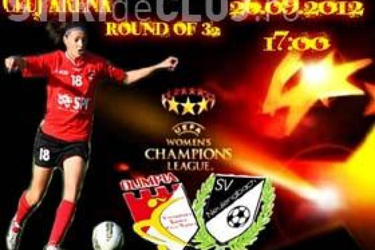 Premieră la Cluj: Pe Cluj Arena se joacă primul meci de fotbal feminin din Liga Campionilor!