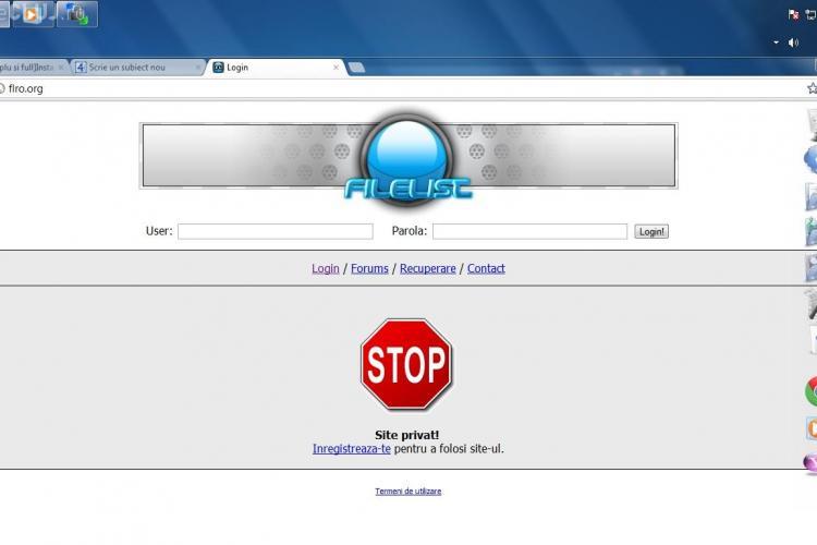 Nu merge Filelist. Serverele au fost confiscate