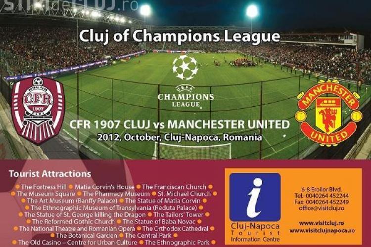 CFR CLUJ - MANCHESTER UNITED. Meciul e transmis la Cluj-Napoca pe un ECRAN GIGANTIC - VIDEO