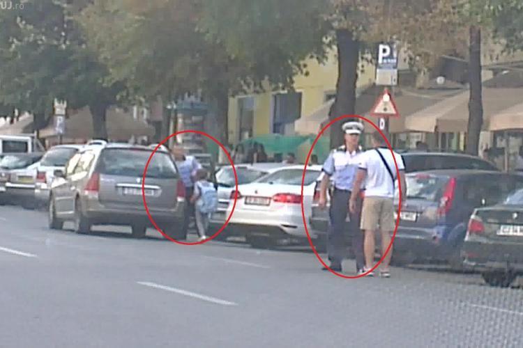 Polițist în ACȚIUNE ÎN fața la Diesel: Amendează un șofer, dar pe un alt polițist îl lasă în pace - VIDEO