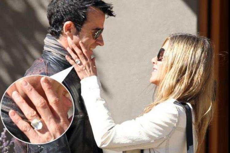 Jennifer Aniston a primit un inel de logodnă de sute de mii de euro
