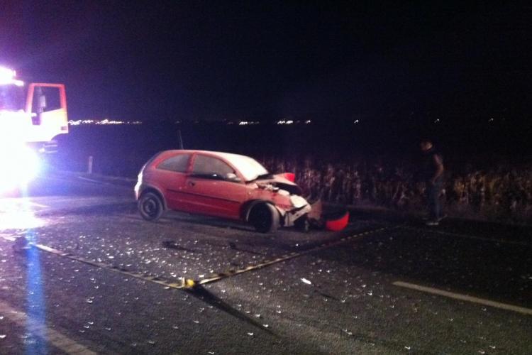 Accident pe Centura Apahida! Un Opel a intrat sub un camion - VIDEO