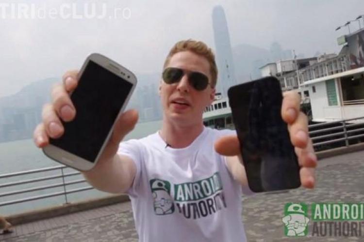 Care e mai rezistent la căzături, iPhone 5 sau Samsung S3? - VIDEO