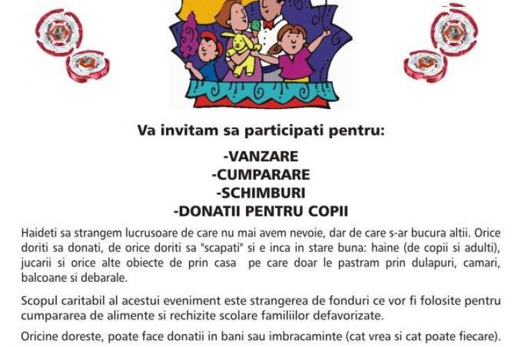 Târg de toamnă la Cluj-Napoca. Puteți dona haine, jucării și alte lucruri pentru copii