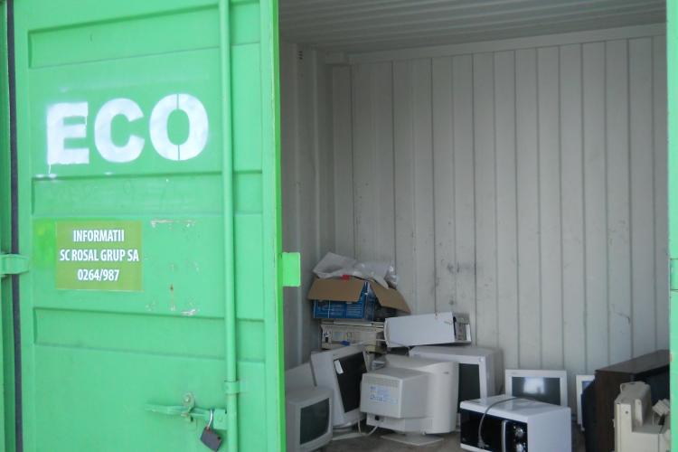 Acţiune de colectare a Deşeurilor de Echipamente Electrice şi Electronice (DEEE), la Cluj