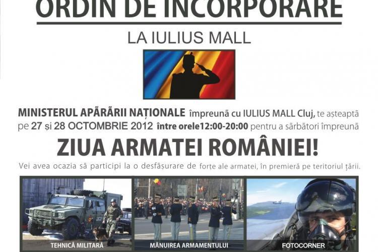 Ziua Armatei, sărbătorită la Iulius Mall Cluj