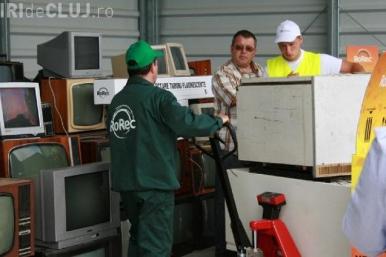 Cluj: Se colectează frigidere, televizoare și mașini de spălat defecte. Unde le DUCI și câți BANI primești pe ele