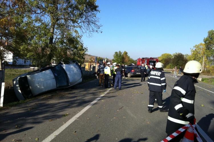 Accident la Jucu! Trei mașini s-au făcut PRAF și mai multe persoane au fost rănite - VIDEO și FOTO EXCLUSIV