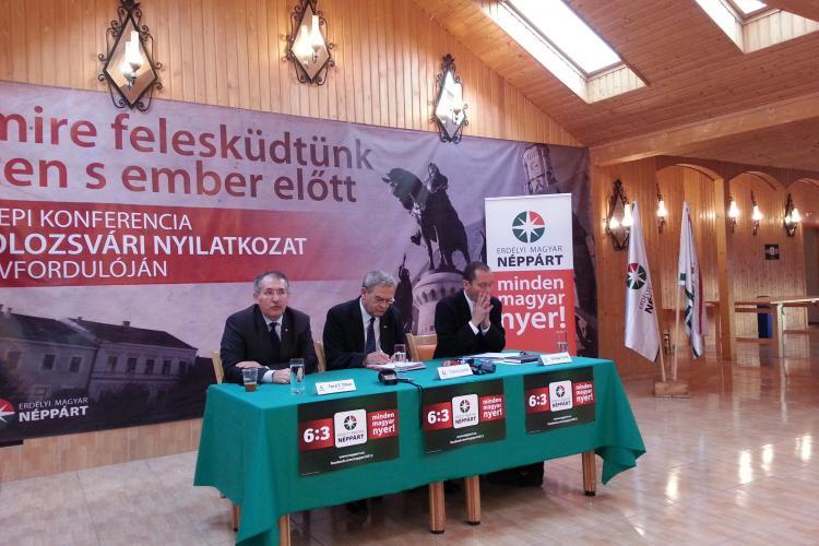 Tokes a anunțat la Cluj candidații PPMT la parlamentare. I-a pus să JURE că vor lupta pentru autonomia ungurilor