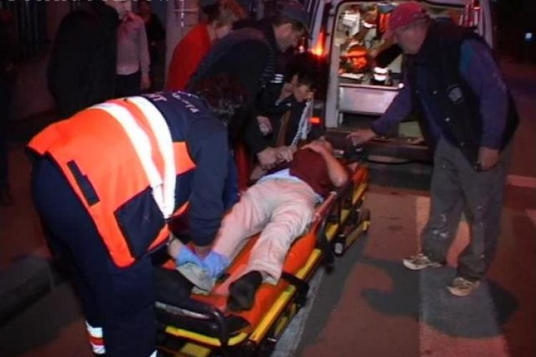 Un bărbat a fost accidentat pe o trecere de pietoni din Dej, de pe strada Crangului - VIDEO