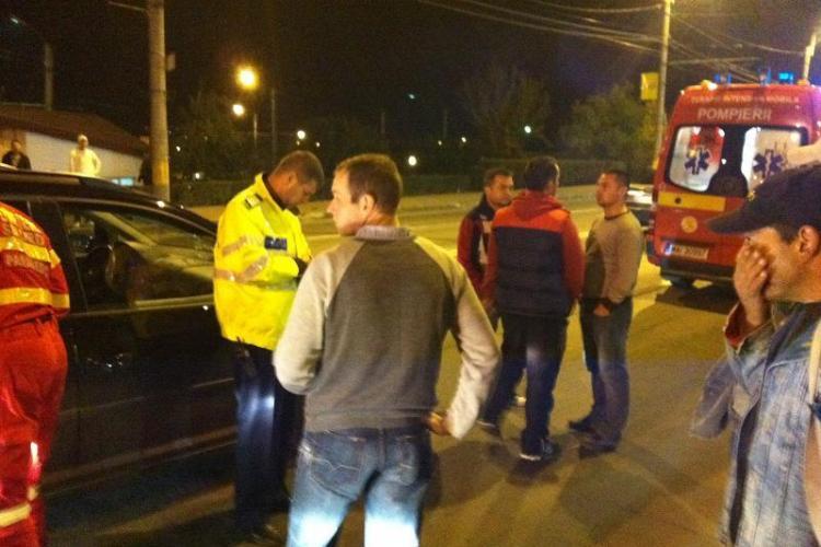 Accident pe podul IRA! Un pieton a fost lovit de un autoturism, care a intrat într-un taxi - VIDEO