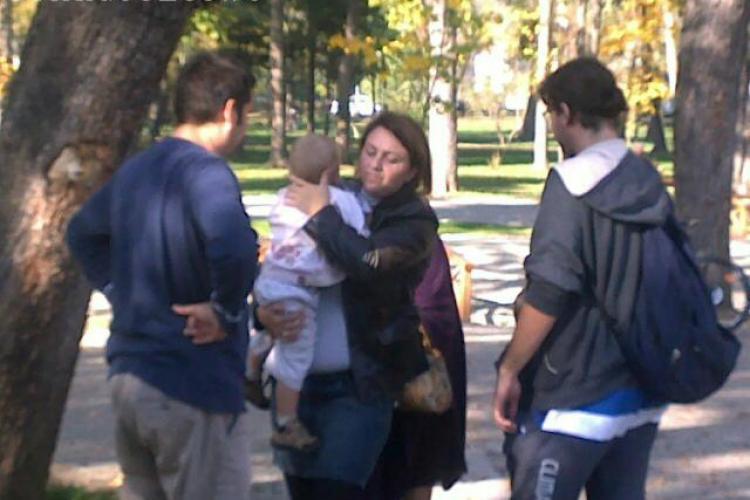 Copil lovit de un biciclist în Parcul Central - FOTO