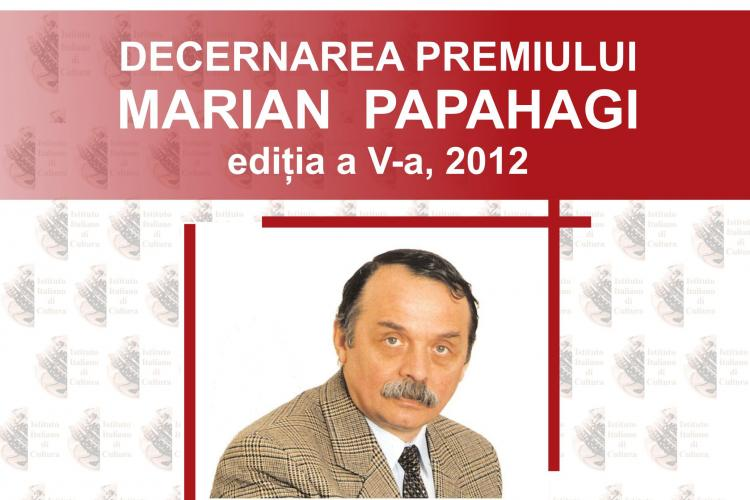Premiul Marian Papahagi, decernat la UBB Cluj-Napoca
