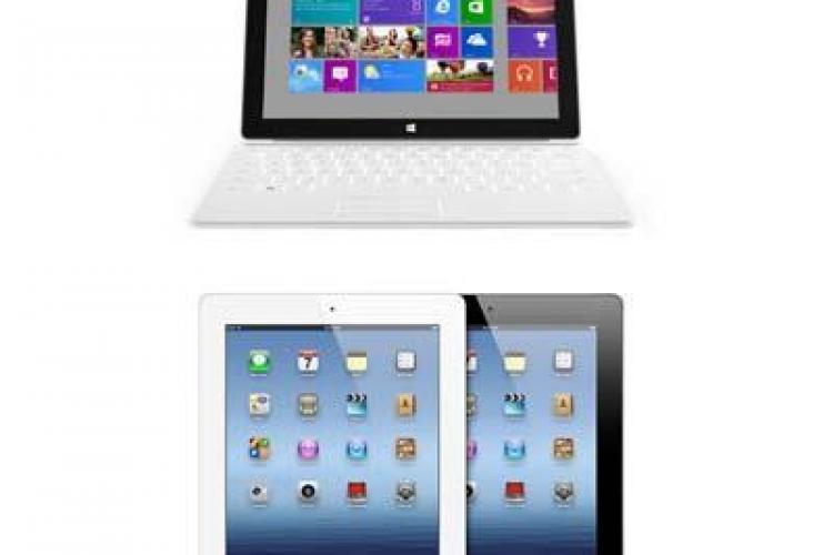 Războiul Microsoft-Apple reîncepe. Microsoft a anunțat prețul tabletei Surface