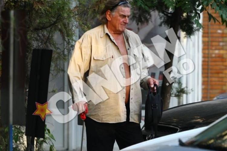 Florin Piersic, dezbrăcat pe jumătate pe stradă cu o presupusă amantă - FOTO